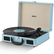 Akai Rechargeable Portable Briefcase Turntable with Built-in Speaker