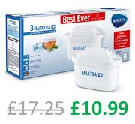 BRITA MAXTRA+ Water Filter Cartridges, Pack of 3