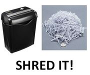 Shred It! Shred It! Shred It! AmazonBasics Paper and Credit Card Shredder
