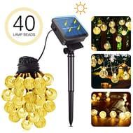 Solar String Lights 40 LED Garden Lights 26ft Crystal Balls