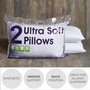 Bargain Support Ultra Soft Pillows Only £4.90 for the Pair from Dunelm
