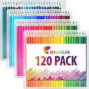 120 Colouring Pencils (Numbered) with Plastic Box