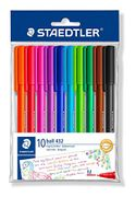 STAEDTLER Medium Rainbow Ballpoint Pens, Assorted Colours, Pack of 10
