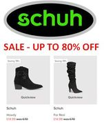 LOVE SHOES? up to 80% off Schuh Sale
