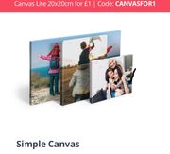 £1 20x20cm Canvas Lite (Postage Applies)