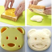 2x DIY Bear Cookie Pastry Cutter Sandwich Toast Maker Bread Baking Mold Tool