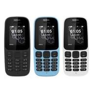 Nokia 105 SIM-Free Mobile Phone 2G- Unlocked - Black, Blue,White - 22% Off!
