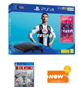 500GB PLAYSTATION 4 with FIFA 19 + the EVIL within 2 and NOW TV Only £249.99