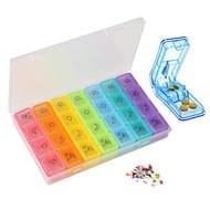 7 day Pill Organizer,Pill Splitter Pill Divider Pill Dispenser,