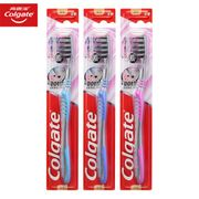 Colgate Charcoal Soft-Bristled Toothbrush 3Pcs - Almost HALF PRICE!