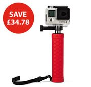 Action Battery Grip, Red - for GoPro and Other Action Video Cameras