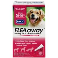 RSPCA FLEAaway Large Dog Flea Treatment 3 X 268mg NOW £7.99 WAS £8.99