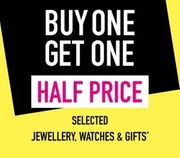 Buy One Get One Half Price on Selected Watches Jewellery & Gifts