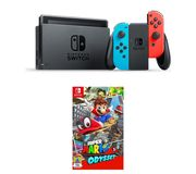 NINTENDO Switch Neon Red & Super Mario Odyssey Only £279