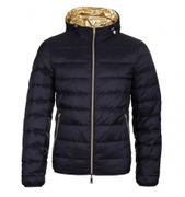 Emporio Armani Navy & Gold Reversible Packable down Jacket