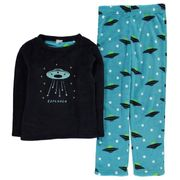 Crafted Essentials Cuddle Fleece Pyjamas Junior save £4.99
