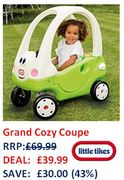 SAVE £30 - Little Tikes Grand Cozy Coupe