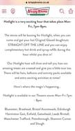 Krispy Kreme Hotlight Hour Weekdays 7-8pm
