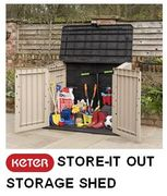 Save £22 - KETER Store-It out Midi Garden Storage Shed