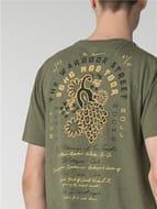Ben Sherman Olive Peacock Tour Back Print Tshirt