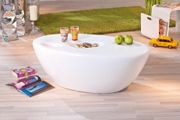 Galaxy High Gloss Modern round White Coffee Table Living Room Table