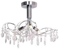 Crystal Glass Flush Ceiling Light