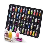 48 Tubs of Various Sequins/ Powder/ Stickers for Nail Art Nail Art