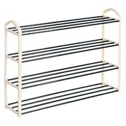 Heavy Duty 4 Tier Shoe Rack for 16 Pairs Shoes - Save £6