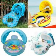 Inflatable Dual Person Mother and Baby Swim Ring