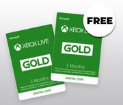 Xbox Live 3 Month Gold Membership + Get 3 Months FREE(Xbox 1) 6mths for £17.99.