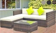 5-Piece Rattan Sofa Furniture Set - 3 Colours