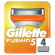 4 Refills for the Gillette Fusion5 Razor Blades for Men