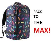 PACK TO THE MAX! Carry On Bag. MASSIVE 44 LITRE! **4.5 STARS**