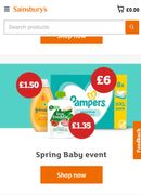 £15 off First Grocery Orders over £80 at Sainsbury's