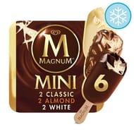 Magnum Mini Classic Almond and White 6 Pack