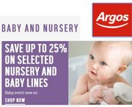 ARGOS Baby & Nursery Event - save 25%