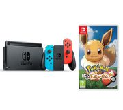 NINTENDO Switch Neon Red & Pokemon: Let's Go, Eevee! Bundle Only £279