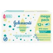 Johnsons Cottontouch Extra Sensitive Wipes 12 X 56 per Pack - Save £3