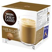 NESCAF DOLCE GUSTO Cafe Au Lait Coffee Pods, 16 Capsules
