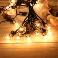 Garden String Lights with Actual Bulbs
