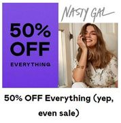 50% off EVERYTHING at Nasty Gal - Even Sale!