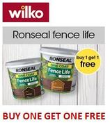 Ronseal FENCE LIFE Buy One Get One Free!