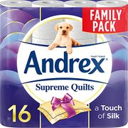 SAVE £2.95 - Andrex Supreme Quilts Toilet Tissue - 16 Rolls (Amazon Pantry)