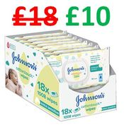 SAVE £8 - Johnson's Baby Cotton Touch Wipes (18 PACK, 1008 Wipes)