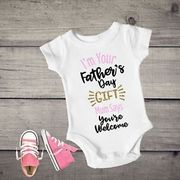 Funny Fathers Day Baby Bodysuit