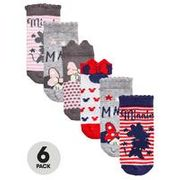 Minnie Mouse Baby Girls 6pk Socks