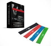 Best Seller Resistance Loop Bands Set of 4 for Woman and Man Natural Latex