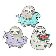 3pcs Sloth Pin Funny Pin Cartoon Pins FREE DELIVERY