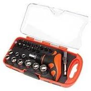 *HALF PRICE* Top Tech 25 Pc Handy Socket Set in Storage Case