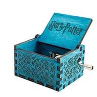 Wooden Hand Crank Harry Potter Music Box Classic Vitrage Wood Hand Music Box
